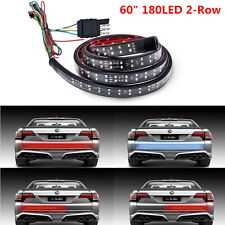 """60"""" Red/White 2-Row LED Truck Tailgate Light Strip Reverse Stop Turn Signal Lamp"""