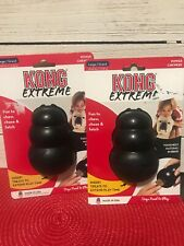 KONG Extreme Large Dog Chew Toy Black NATURAL RUBBER power Chewer Set Of Two New