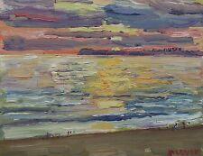 Santa Monica Sunset Plein AIr Impressionism Landscape John Kilduff Oil 8x10