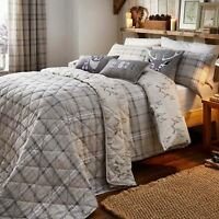 Flannelette Duvet Covers Beige Brushed Cotton Tartan Stag Quilt Bedding Sets