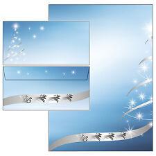 Weihnachtsbaum silber-Star Set Motivpapier Briefpapier 20 Blatt A4 +10 Umschläge
