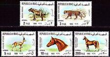 Irak Iraq 1969 ** Mi.566/70 Tiere Animals Leopard Pferd Horse Gazelle
