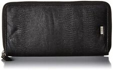 RETAIL $60 New OBEY Jett Zip Around Wallet Accessory 100% Real Black Leather