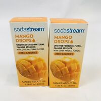 SodaStream Mango Drops Unsweetened Natural Fruit Flavor Zero Calorie Flavoring