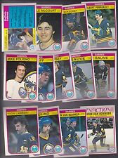 1982 - 83 OPC Team SET Lot of 13 Buffalo SABRES NM+ o-pee-chee SAUVE PERREAULT