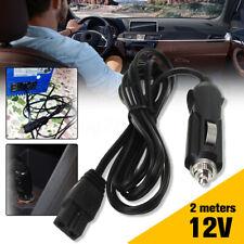 2m 12V DC 2 Pin Lead Cable Plug Wire For Car Cooler Cool Box Mini Fridge