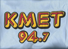 """Brand New"" KMET 94.7 CLASSIC T SHIRT < BABY BLUE > EXTRA EXTRA EXTRA LARGE / 3X"