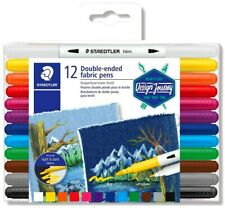 Staedtler Double-ended Fabric Marker Set of 12 by Spotlight