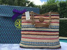 TORY BURCH MARION WOVEN SLOUCHY TOTE NWT $650 & GIFT BAG -SOLD OUT