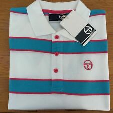 Sergio tacchini coniston polo shirt white/turquoise/pink S small 36/38 bnwt
