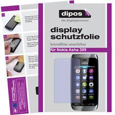 1x Nokia Asha 309 Protector de Pantalla protectores transparente