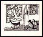 B Kliban Cats ART MUSEUM CATS vintage funny cat art print