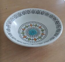 Kathy Winkle Ironstone broadhurst Roulette pattern 6 inch bowl
