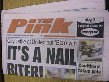 14/04/2001 COVENTRY evening Telegraph il rosa: principali titolo recita: è un chiodo