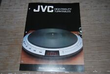JVC Hi-Fi Turntable QL-10 QL-8 QL-A7 QL-F4 QL-A2 JL-F30 Original Catalogue