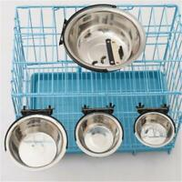1Pc Pet Bowl Hanging Dog Cage Bowls Stainless Steel Dogs Cats Bowls Pet Supplies