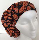 Halloween Pumpkin Print Scrub Cap Large Bouffant Medical Surgery Hat