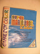 Retrogaming NINTENDO GBA Game Boy COLOR Notice SUPER MARIO BROS Deluxe Manual