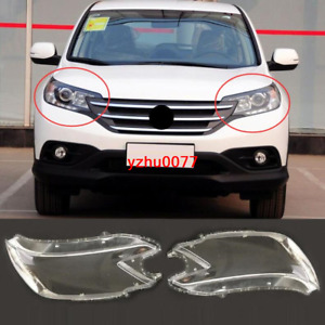 2012-2014 For Honda CRV CR-V ABS Right & Left Headlight Headlamp Lens Cover 2pcs