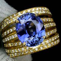 _LDN_ Sublime Bague Saphirs Kashmir / Cachemire bleu 11 x 9mm _Argent 925_T53
