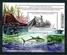 FSAT TAAF 2017 MNH Tuna Fishing 2v M/S Ships Boats Fish Fishes Stamps