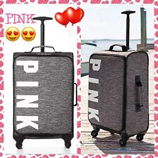 Victoria's Secret Luggage PINK Suitcase Wheelie Carry-On Limited Edition Marl