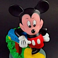 "Disney MICKEY MOUSE Coin Bank Piggy Bank Mail Box 8"" Plastic"