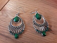earrings and gift box Brand new antique silver styled
