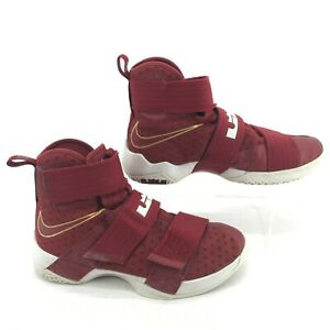 Nike LeBron Soldier 10 Christ the King Mens 8.5 High Top Mesh Red 844374-668