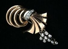 Unique 1940's 18K Rose Gold Retro Brooch