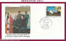 W471 VATICANO FDC ROMA GIOVANNI PAOLO II WOJITYLA VISITA LA PAZ BOLIVIA 1988