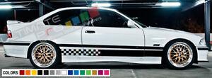 sticker Stripe kit for BMW M3 E46 Coupe Front Bumper Grilles 2001 2004 2005 2006