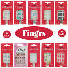 FINGRS NAIL WITH GLUE - CALIFORNIA GIRL, X-PRESS, SALON FRENCH, FLIRT
