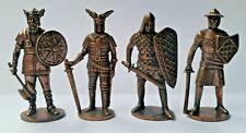 Metalfiguren Soldatini Kinder Serie Krieger Guerrieri Nordici rame brunito