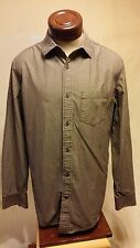 Banana Republic Brown Long-Sleeve Button-Up Classic Fit Shirt Size L