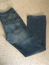 Mens Blue Bootleg Jeans Size 30R Burtons Menswear
