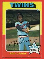 1975 Topps #600 Rod Carew VG-VGEX WRINKLE HOF Minnesota Twins FREE SHIPPING