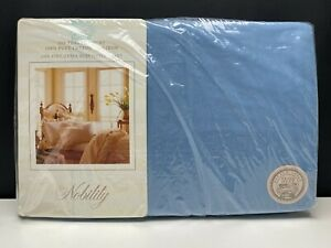 Nobility King Extra Deep Fitted Sheet Blue 100% Cotton No Iron New In Package