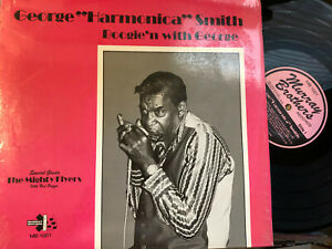 """George """"Harmonica"""" Smith Boogie'n with George rare Murray Brothers blues LP"""