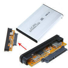 Pouch Silver SATA Laptop Hard Disk Usb 2.0 Casing External portable With