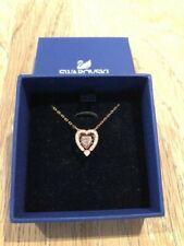 BNIB SWAROVSKI Sparkling Dance Heart Necklace Rose Gold Tone-Plated RRP £89.00