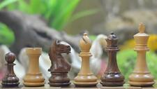 "Fierce Knight Staunton Wooden Chess Pieces in Shesham & Box Wood - 3.5"" King"