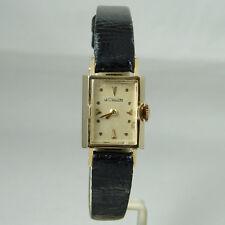 Ladies LeCoultre 14k Yellow Gold Wristwatch - Circa 1940s-50s