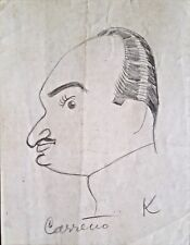 Cuban Art. Drawing by Mario Carreño. Untitled, 1938. Original signed.