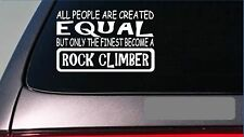 "Rock climber equal Sticker *G728* 8"" vinyl rock climbing repelling boots gear"