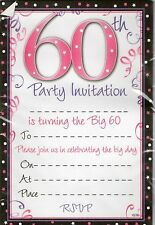 Buy birthday invitation cards for adults ebay age 60 60th birthday party invitations envelopes boy male girl female invite filmwisefo