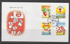 Philippine Stamps 2003 St. Valentines Day Complete set on FDC