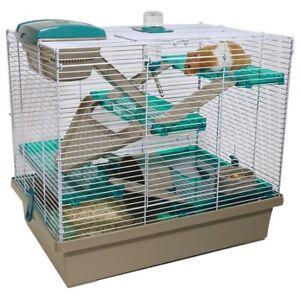 Rosewood Pico XL Hamster Cage, Loft Bed Water Bottle Wheel Food Bowl or Shavings