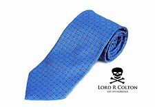 Lord R Colton Basics Tie - English Blue Red & Gray Necktie - $49 Retail New
