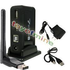 USB Hub 7 Port with US Power Adapter +USB Wireless Network Card Wifi Transmitter